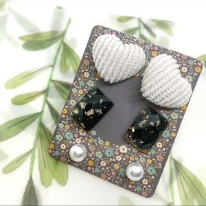 3-piece Geometric Bohemian Stud Earrings
